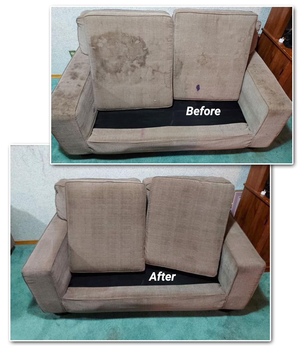Upholstery Furniture Cleaning - Moose Jaw - Seals Restorations